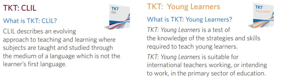 TKT (Teaching Knowledge Test) Modules CLIL and YOUNG LEARNERS