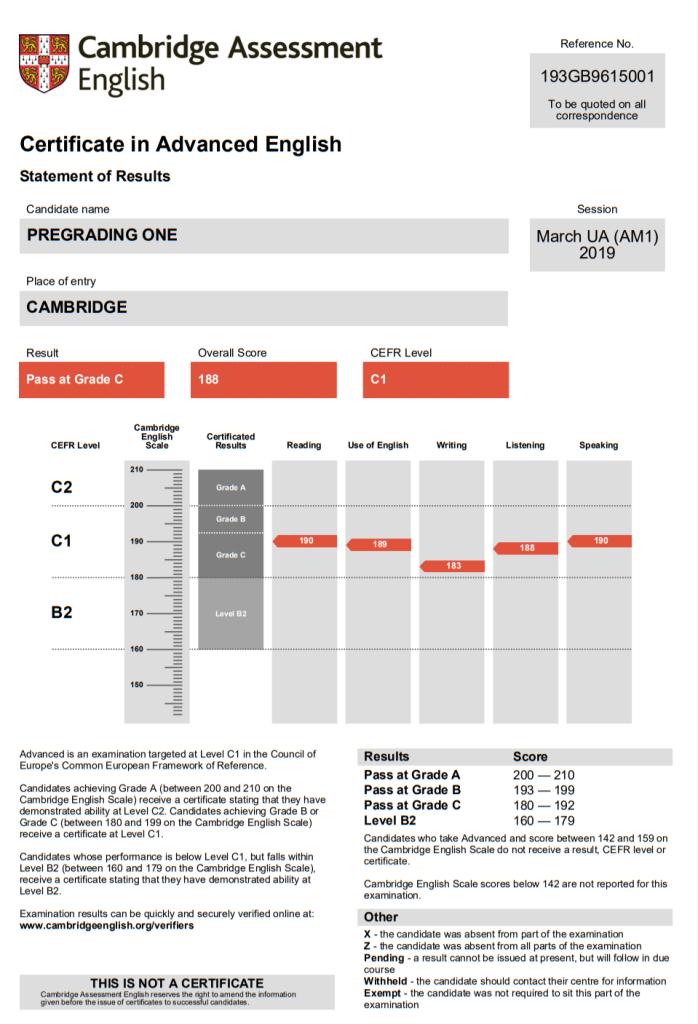 CAE - C1 Advanced Certificate