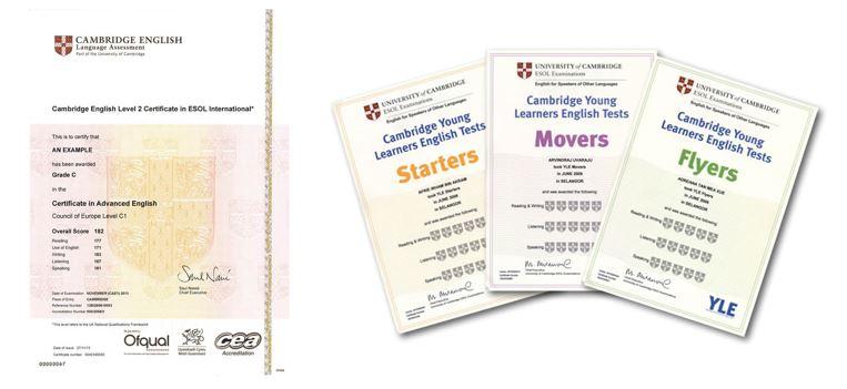 Cambridge Certificate - certification