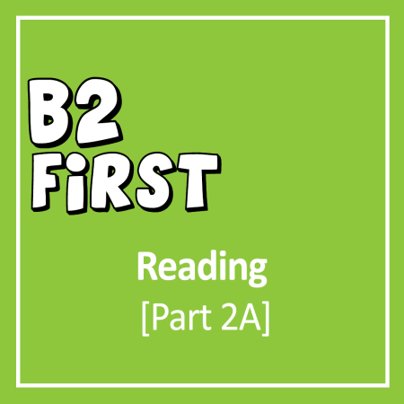 Cover for B2 First Reading and Use of English part 2 Open Cloze