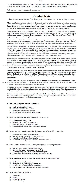 part 5 fce use of english 2