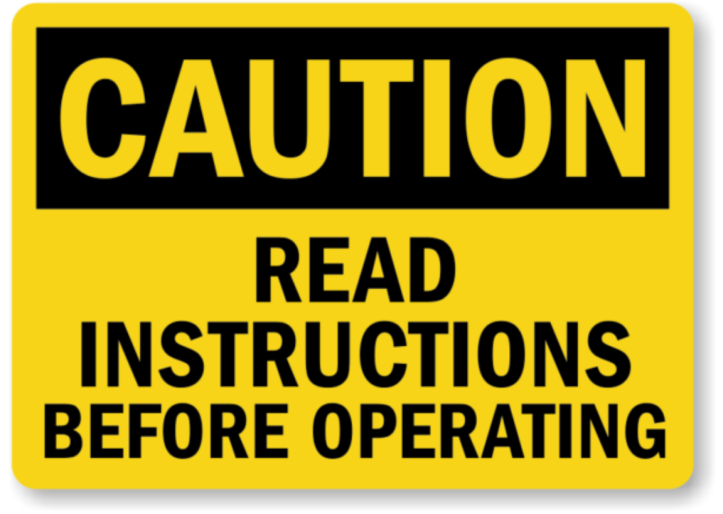 Read Instructions before operating - Give instructions and follow instructions