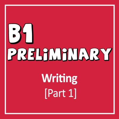 Cover for PET - Cambridge English B1 Preliminary Writing Exam