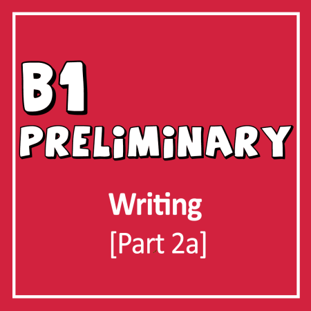 Cover for Cambridge English B1 Preliminary Writing Exam part 2 writing an article