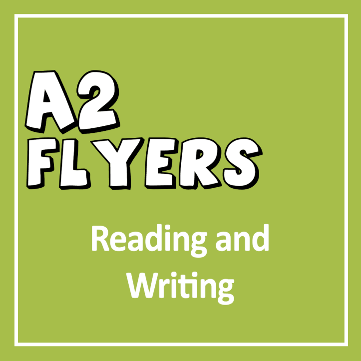 Cover for the YLE Young Learners A2 Flyers Reading and Writing Exam
