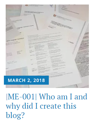 Who am I? Why did I create this blog?