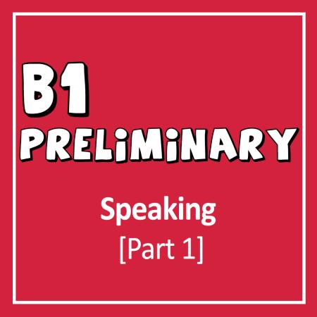 Cover for Cambridge English B1 Preliminary (PET) Speaking Exam