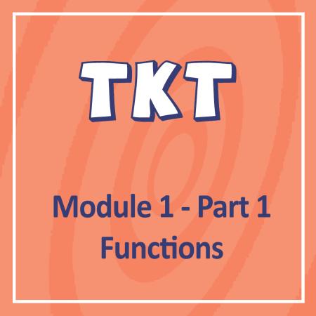 Cambridge TKT Module 1 Part 1 Functions