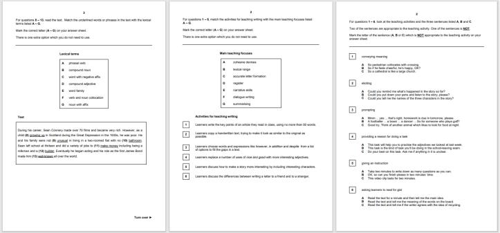 TKT Test (Teaching Knowledge Test)