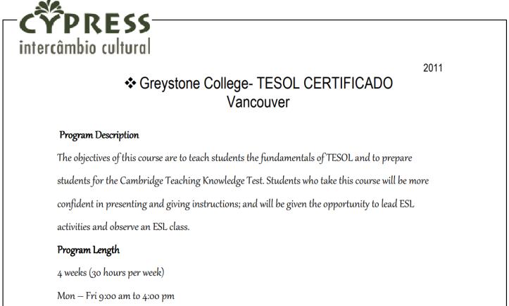 TKT prep course description